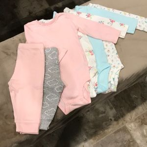 Baby Girl Onsie & Sweat Pant Lot